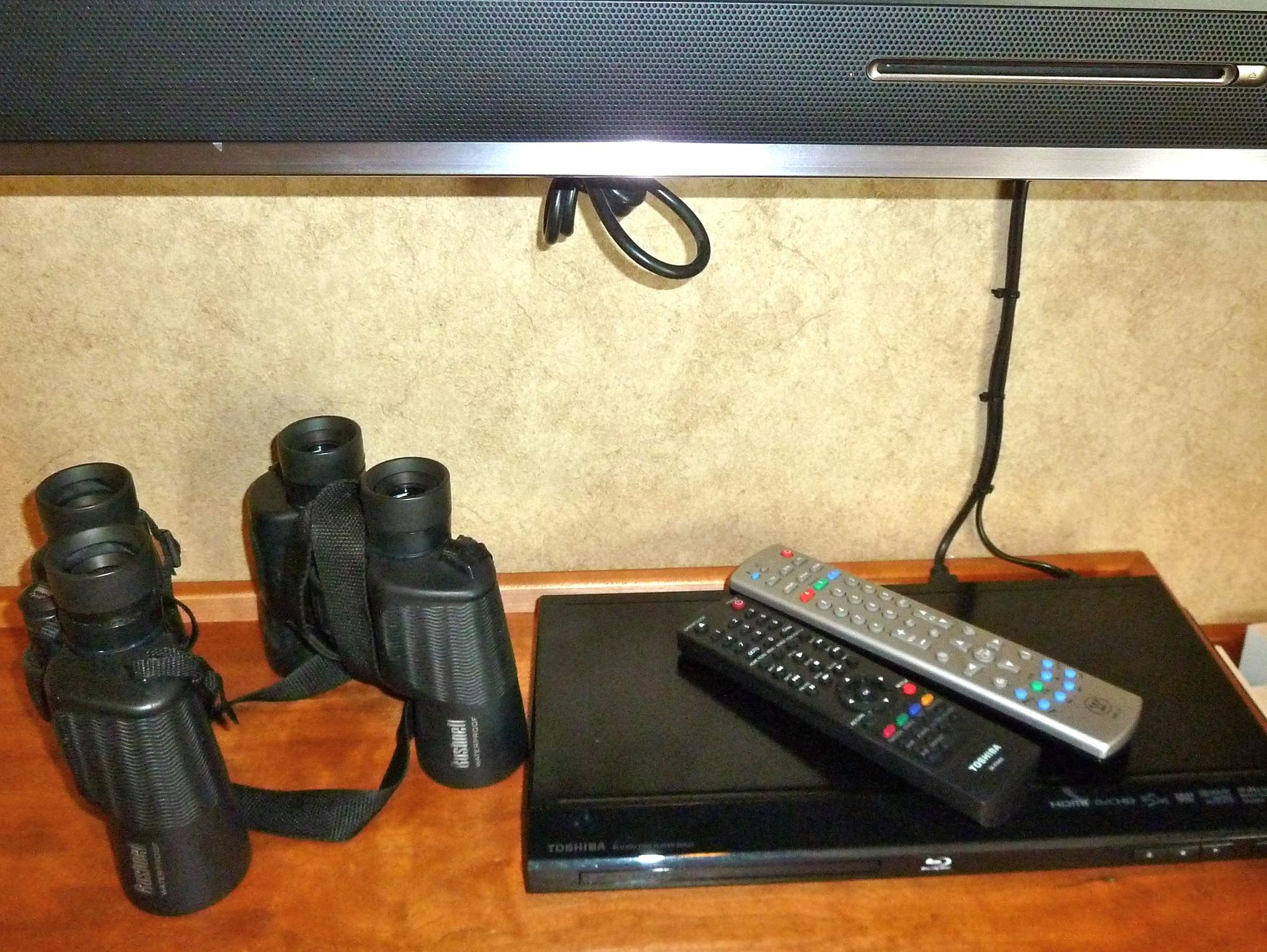 All Safari Explorer cabins are provided with two pairs of binoculars, iPod docking stations and DVD players for use with the flat-screen televisions.