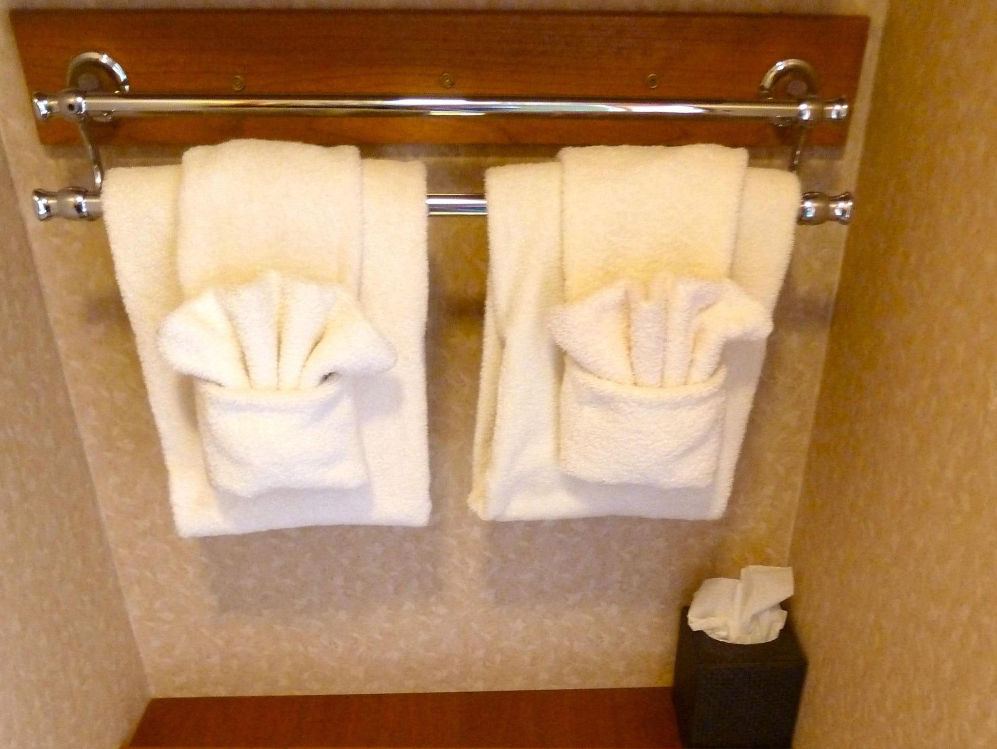 Master cabin bathrooms have showers and commode with plenty of storage space.
