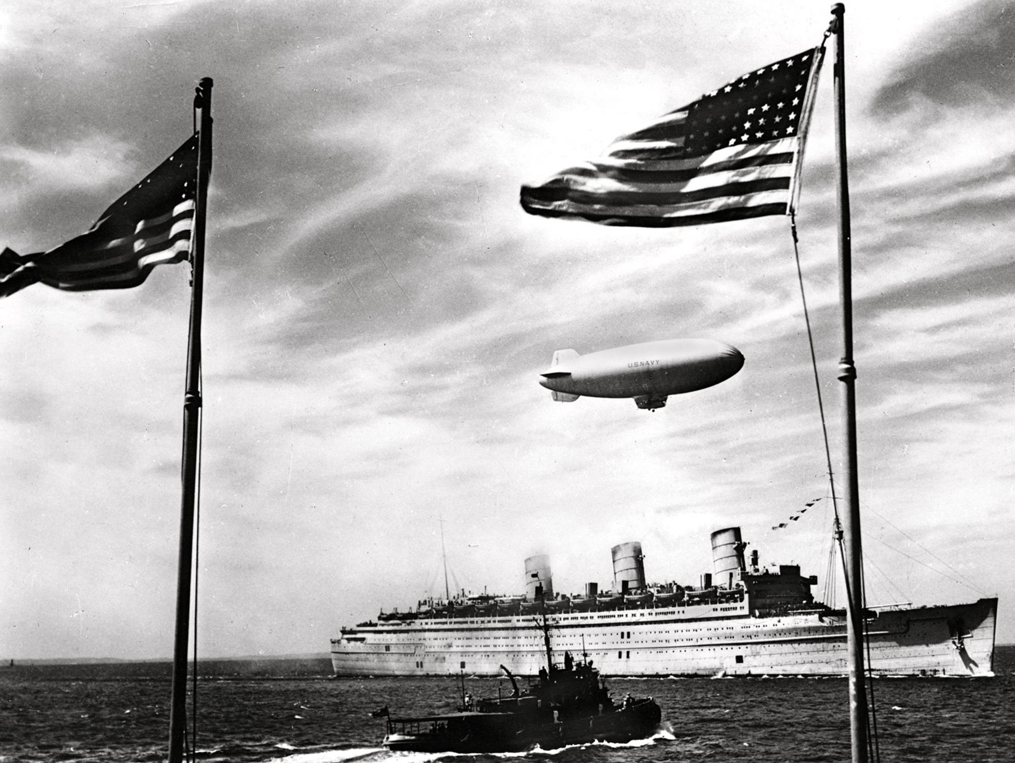 Well into 1946, the two celebrated ships, credited by Winston Churchill with shortening the war by a year, continued their trooping and repatriation duties. During this phase of its career, the Queen Mary was nicknamed 'The Grey Ghost.'