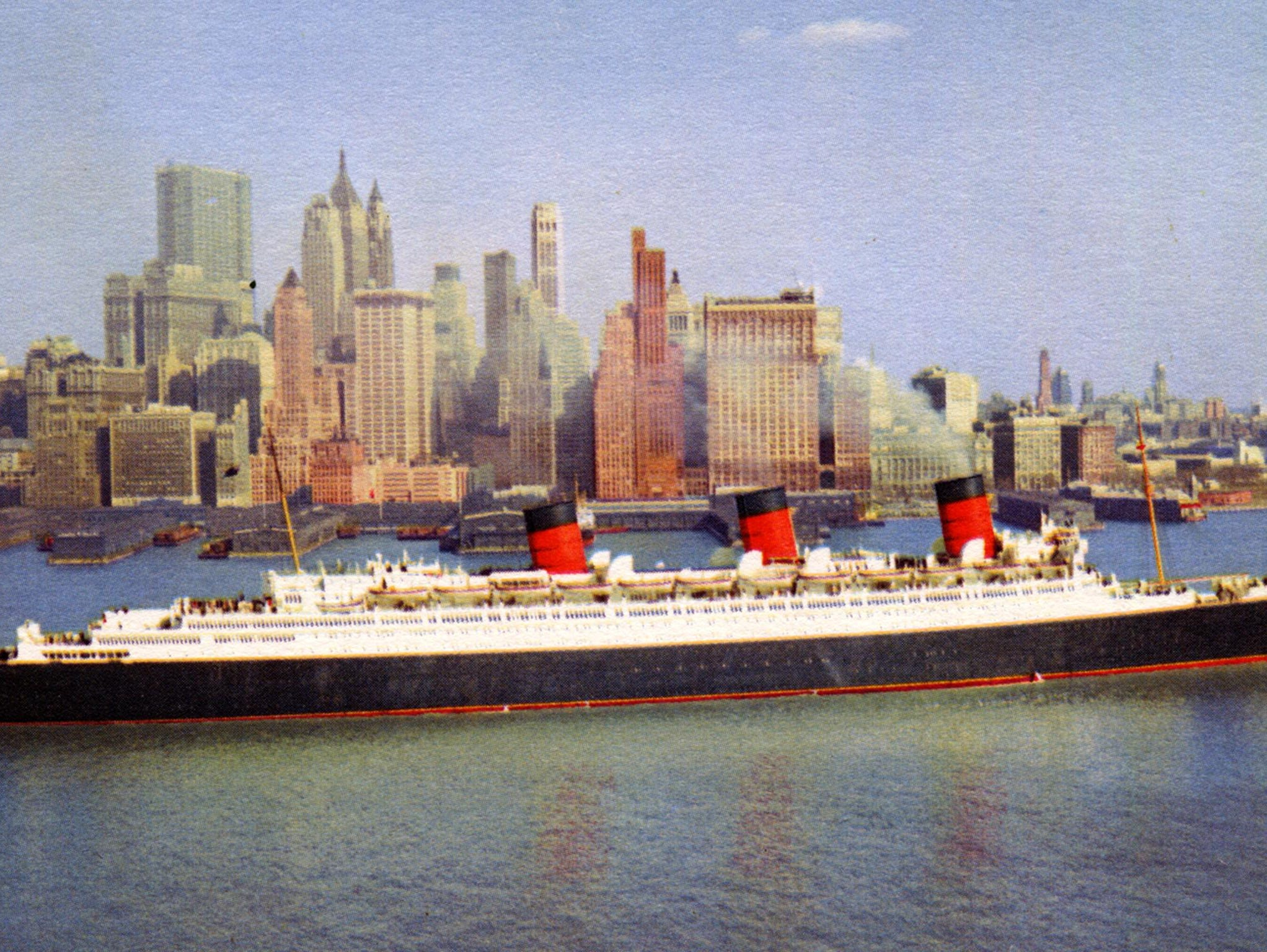 Despite being eclipsed in size by the twin-funneled, 83,000-gross-ton Queen Elizabeth and in 1952, losing the Blue Ribband to the SS United States, the Queen Mary would reign as the most popular and beloved ship in the world -- until the jet airplane brought down the curtain on trans-Atlantic travel in the early 1960s.