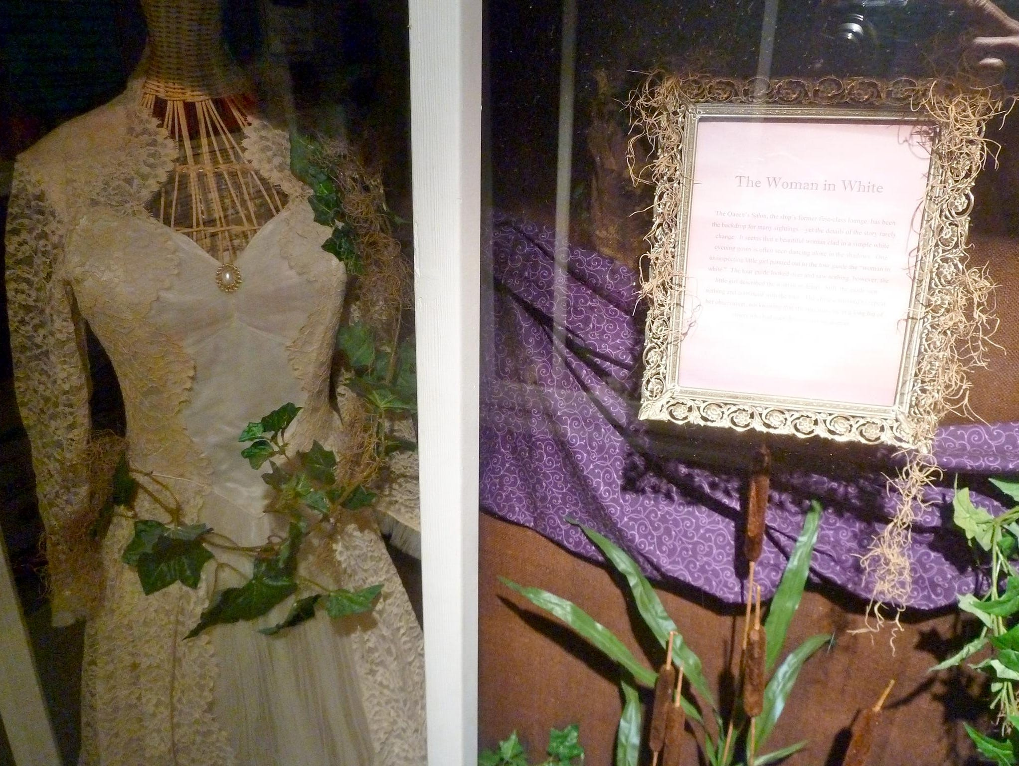 One particularly well-known entity is 'The Woman In White.' Numerous exhibits and displays tell of other ghostly apparitions.