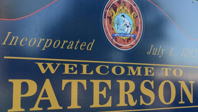 City of Paterson welcome sign.