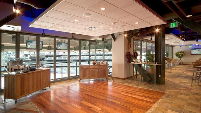 The interior of the luxury space formerly known as the Gehl Club, which is now the Northwestern Mutual Legends Club