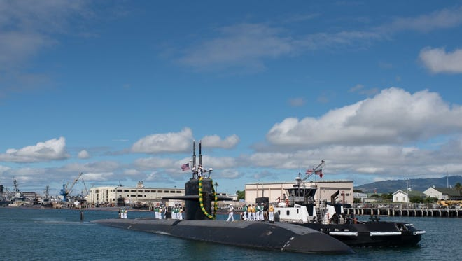 The USS Bremerton returned to Joint Base Pearl Harbor-Hickam on April 6 after a six-month deployment. The Bremerton is due to arrive in its namesake city Friday afternoon to be inactivated and decommissioned.