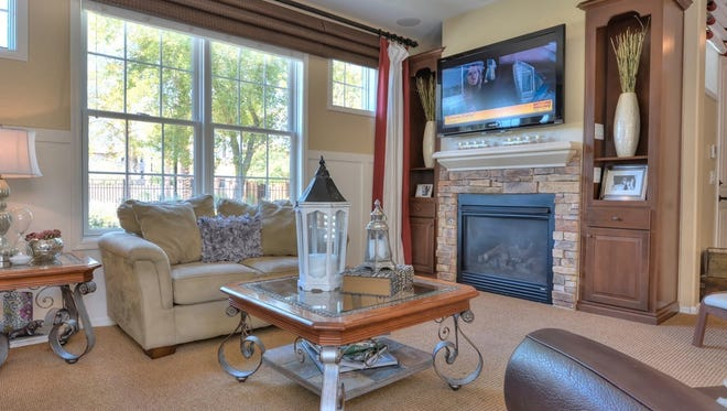 This Gilbert home, which sold for $285,000, has a great room with a fireplace.