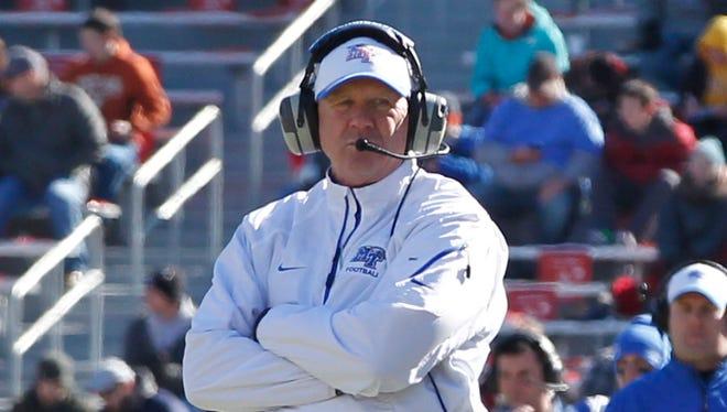 Middle Tennessee Blue Raiders head coach Rick Stockstill.