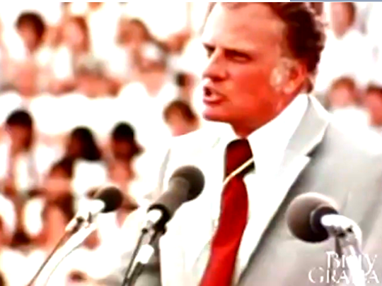 Billy Graham, who prayed with presidents and met world leaders, died on Feb. 21, 2018.