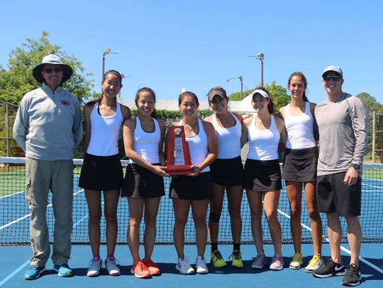 Chiles' girls tennis team won a District 2-3A title