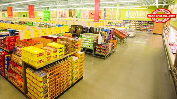 The layout of most Aldi stores.