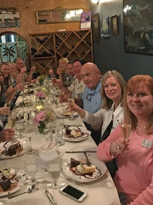 Islands Fish Grill in Indialantic entertained 14 FLORIDA TODAY Insiders at a recent Suzy's Secret Supper.