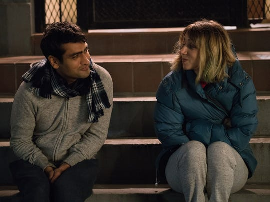 "Kumail Nanjiani and Zoe Kazan star as the central lovebirds of the romantic comedy ""The Big Sick."""