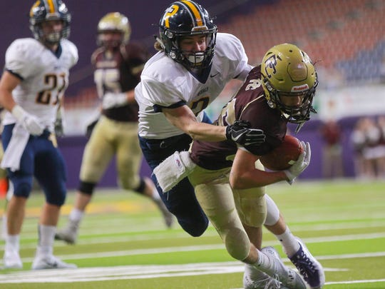 Iowa City Regina and Pella Christian last met in the 2017 Class 1A state semifinals. The Regals won, 37-35.