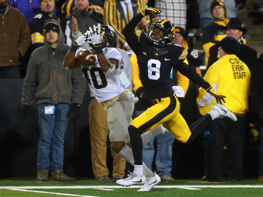Defensive back Matt Hankins is a possible breakout contender this fall for the Hawkeyes.