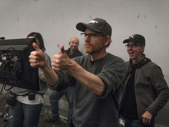 Director Ron Howard gives a sign of his approval on