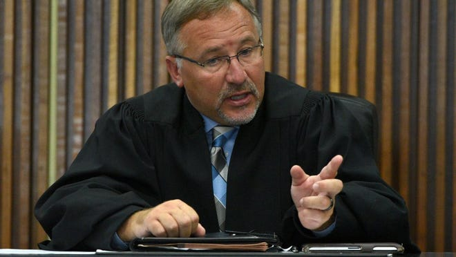 8th Judicial District Criminal Court Judge Shayne Sexton, shown here on the bench on Aug. 27, 2015, readily admits he was unaware of the area's growing prescription drug problem until it  already had a firm grip on the community. (MICHAEL PATRICK/NEWS SENTINEL)