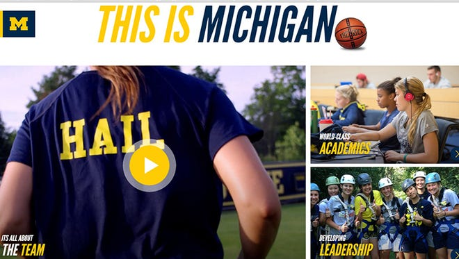 The Michigan Athletic department has launched a new website aimed at drawing recruits in all varsity athletics.