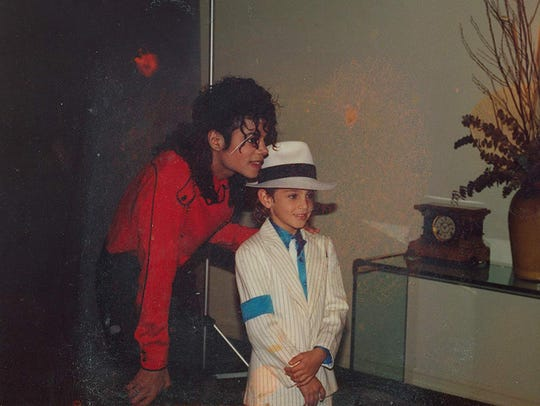 "Michael Jackson and Wade Robson in ""Leaving Neverland."""
