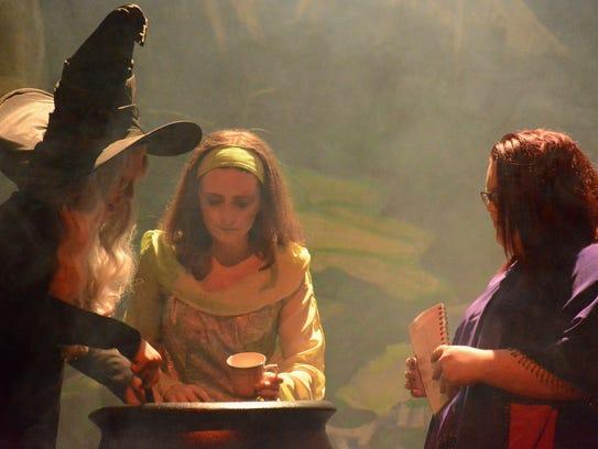 Molly Zinn, Callie Bandy and Ashlyn Via play the three