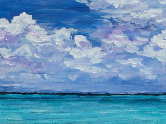 """""""Island Water"""" by Virginia Henz, part of the exhibit opening March 21 at Meadows Art Gallery in Sister Bay."""