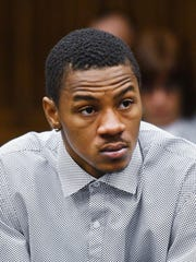 Keith Appling sits in an emerency bond hearing at the Frank Murphy Hall of Justice in Detroit, in this file photo from 2016.