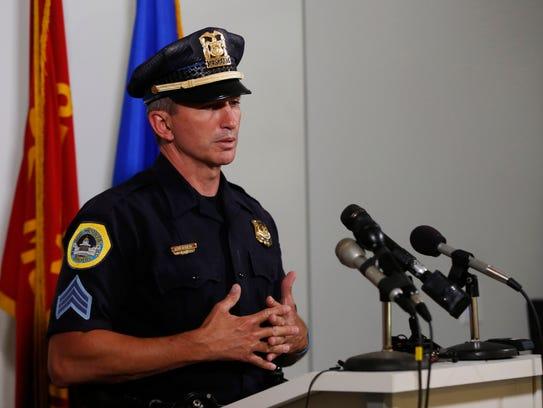 Sgt. Paul Parizek, spokesman for the Des Moines Police Department.