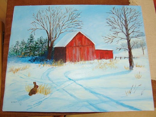 A winter scene that Versch recently completed for an
