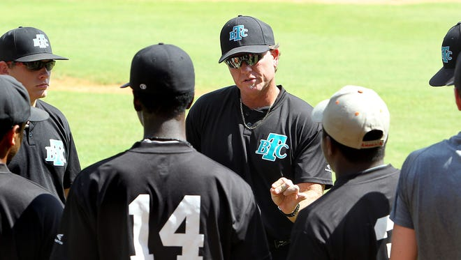 Leon coach Robbie Zimmerman, seen here in 2013, has been coaching Tallahassee Baseball Club for sometime. This year's team is preparing for the national tournament in Kissimmee, July 11-17.