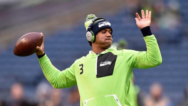 Seattle Seahawks quarterback Russell Wilson questioned President Donald Trump's moves in a Facebook Live video Tuesday.