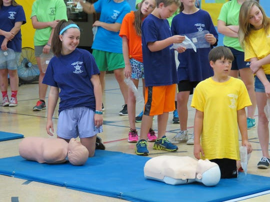 Campers learn life-saving techniques at Camp R & R in Grand Isle County.