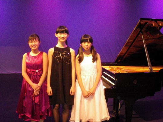 Josephine Chan, 11, of San Francisco; Athena Deng, 11, of British Columbia; and Sara Tuan, 12, of San Jose will compete in the solo finals of the Virginia Waring International Piano Competition.