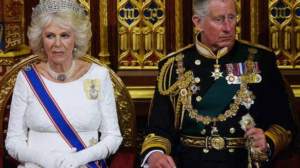 Camilla and Charles at queen's speech
