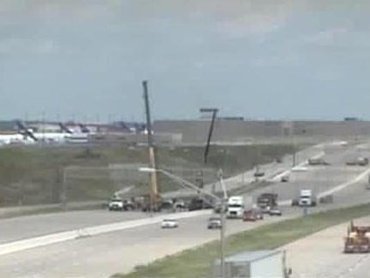 Accident near airport closes I-70 collector ramp