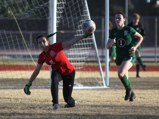 Clare Keenan and the Leon Lions girls soccer team beat