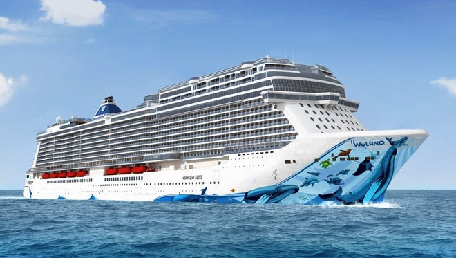 Norwegian Cruise Line's 4,000-passenger Norwegian Bliss will feature hull art designed by marine life artist Wyland.