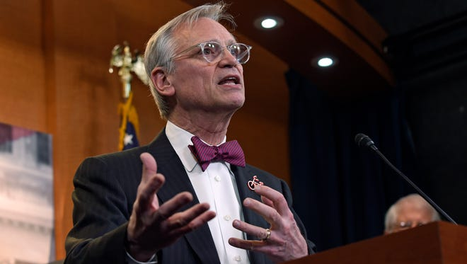In this March 3, 2017, file photo, Rep. Earl Blumenauer, D-Ore., speaks on Capitol Hill in Washington.