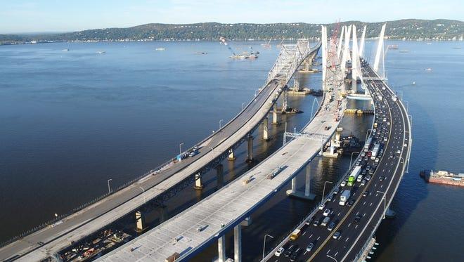 The Mario Cuomo Bridge and the Tappan Zee Bridge on Aug. 11, 2017.