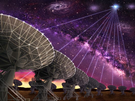 The dishes of the Karl G. Jansky Very Large Array are