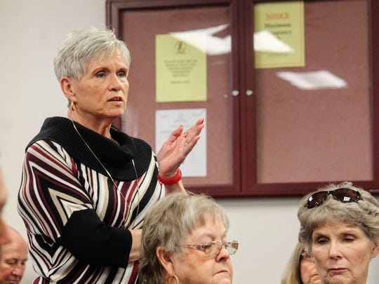 A concerned county resident asked a question regarding the nuclear plant in Carlsbad, NM for TerranearPMC members at the Feb. 9 regular county commission meeting.