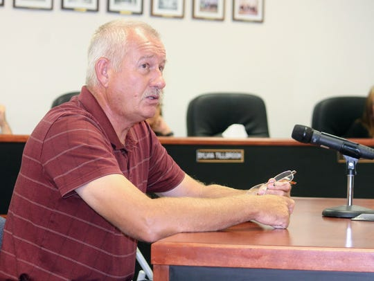La Luz resident Dieter Rehwald went before County Commissioners
