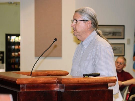 Flickinger Executive Director Jim Mack went before the Alamogordo City Commission Tuesday to discuss the Flickinger Center for Performing Arts' application to obtain a liquor license.