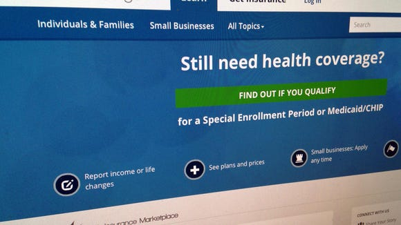 The healthcare.gov website, seen in February. A report from Families USA, a pro-Affordable Care Act group, said 132,000 Alabamians could lose their insurance if the U.S. Supreme Court strikes down subsidies offered through the ACA
