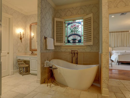 The master bath is a beautiful retreat in the home.