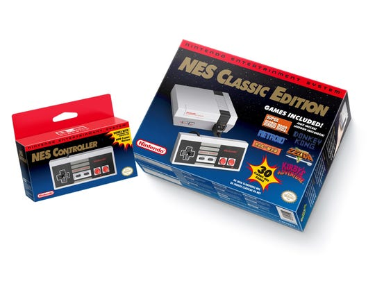 The Nintendo Entertainment System: NES Classic Edition, launching Nov. 11, 2016, for $59.99. Additional controllers will cost $9.99.