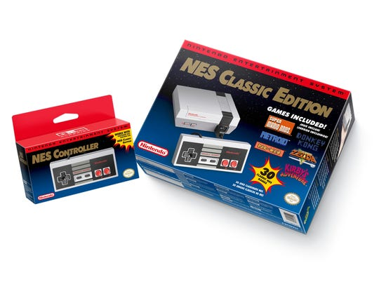 FILE - This file image provided by Nintendo shows the Nintendo Entertainment System Classic Edition. The NES Classic Edition includes all your childhood favorites, assuming you came of age in the late 1980s or 1990s. Searching for the season's hot holiday toys doesn't have to end in disappointment. With the help of technology, some phone calls and shoe leather, hard-to-find holiday toys such as Hatchimals and NES Classic don't have to remain elusive.