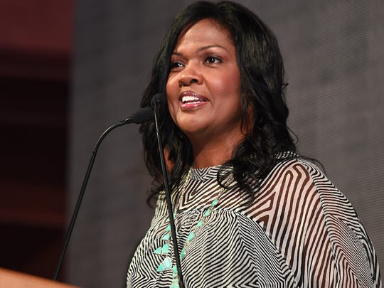 "CeCe Winans was presented with the Rhapsody & Rhythm Award during ""A Celebration of Legends"" luncheon Friday at the Wildhorse Saloon in Nashville."