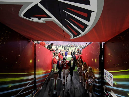 Super Bowl Falcons Locker Room