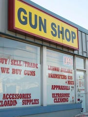 "The ""Guns-N-Roses"" gun shop in Toms River."
