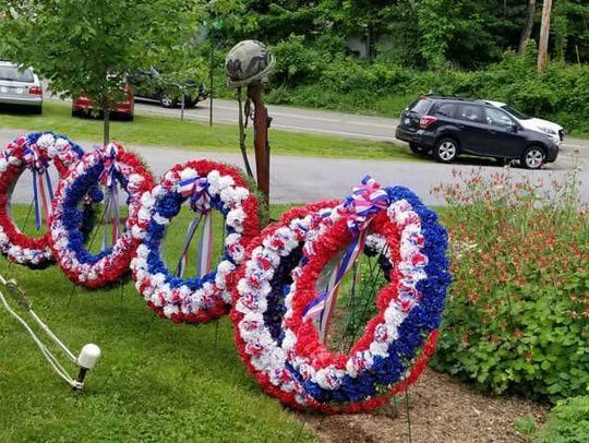 A scene from the East Fishkill Memorial Day ceremony