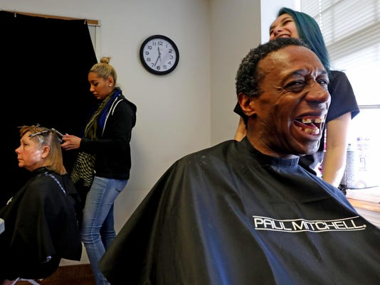 The NJ Point-in-Time Homeless Count at the Bergen County Housing, Health & Human Services Center, where current and former clients of the shelter came to be counted and receive a meal, haircut and other services as part of the count.