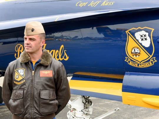 This May 19 photo shows Marine Capt. Jeff Kuss at an